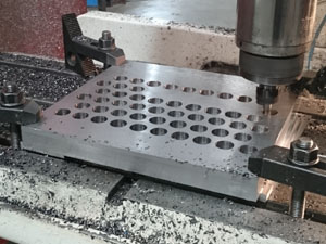 CNC Milling press tool plate in 25mm thick steel plate