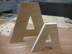 CNC cut lettering and signs