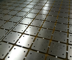Doubler plates CNC machined from 2.5mm thick Aluminium