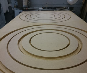 CNC Routed 1m Diameter MDF Rings
